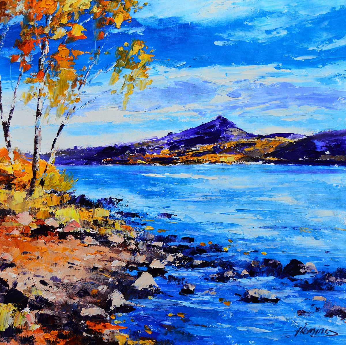 Kevin Fleming - Autumn Schiehallion from Loch Rannoch