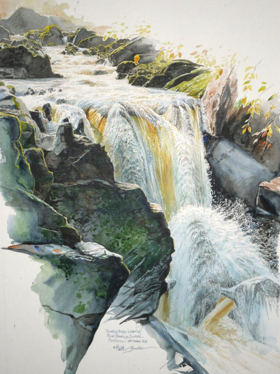 Keith Brockie - Rumbling Bridge Waterfall