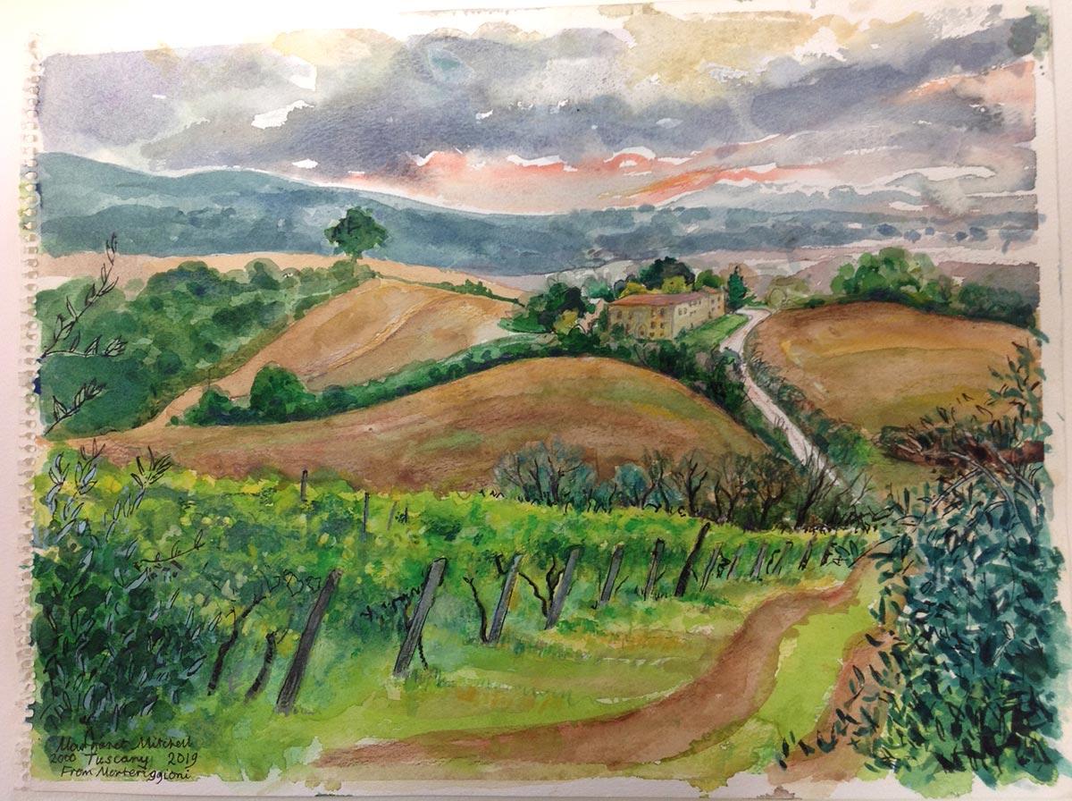 Margaret Mitchell - Tuscan landscape