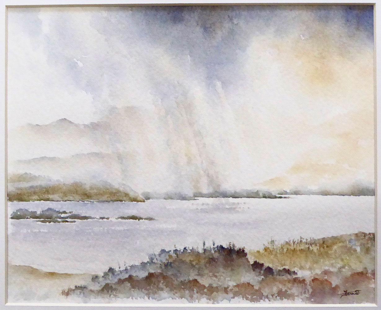 Susan Clare M Fernie - Rainstorm Coral Beach
